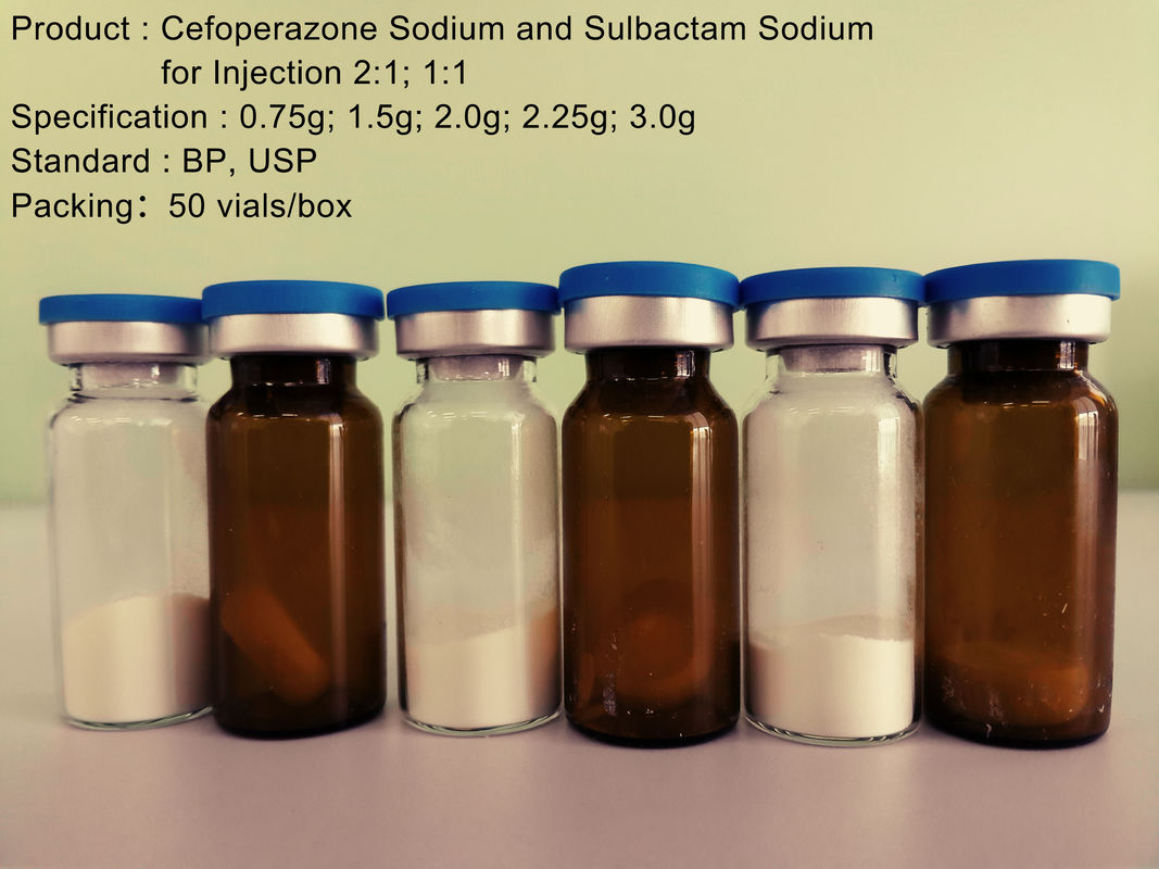 Dry Powder Cefoperazone Sulbactam Injection , Cephalosporin Antibiotics