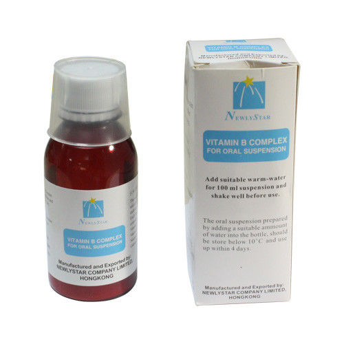 Liquid Vitamin B Complex Dosage Oral Suspension Medicine 100ml , Oral Syrup