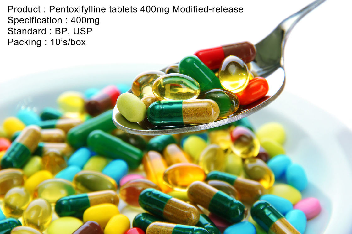 Pentoxifylline tablets 400mg Modified-release 400mg Oral Medications
